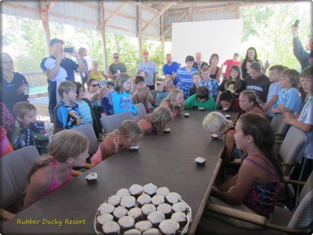 Campground Activities - Cupcake Eating Challenge