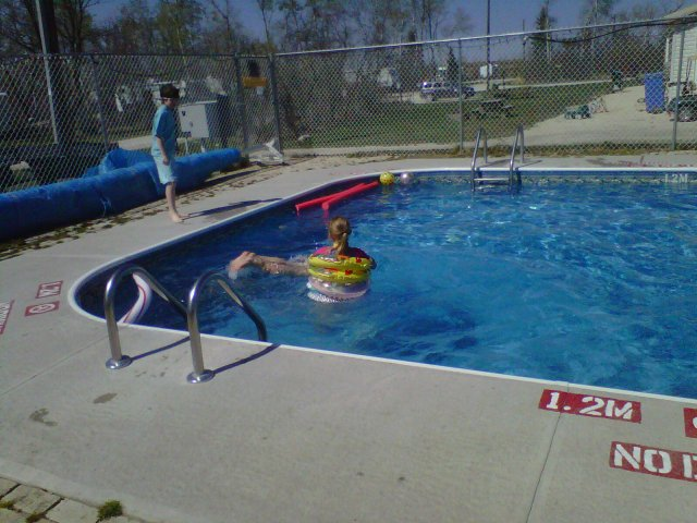 Campground pool open may