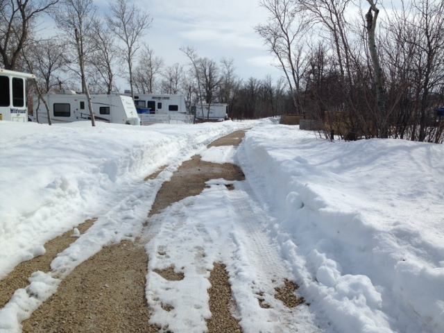 manitoba campground snow